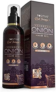 Positive Root Therapy + Advanced Onion Oil For Hair Growth   Blend Of Multiple Essential Oils & Herbs, 200 ml