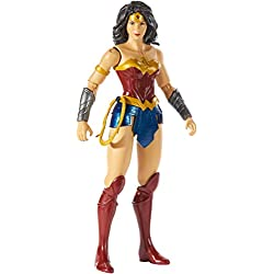 Mattel DC Justice League-Figura de acción 30cm Wonder Woman, Juguetes niños +3 años GDT53