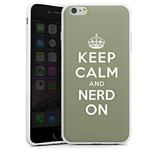 Apple iPhone X Silikon Hülle Case Schutzhülle Keep Calm Nerd Sprüche Silikon Case weiß
