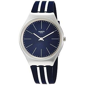 Swatch Reloj Analógico para Hombre de Cuarzo con Correa en Silicona SYXS106