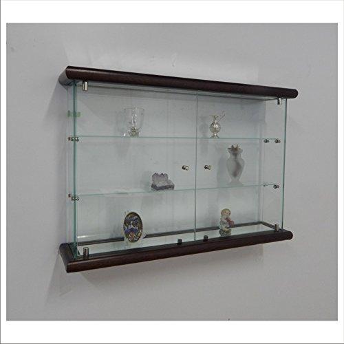 VM ART DESIGN GLASS Glashängevitrine VMBR3HT-TR (Dark Wood)
