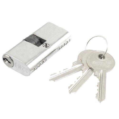 Sourcingmap - tono d'argento 4.3mm croce chiavetta di sicurezza armadio di blocco cilindrico di diametro