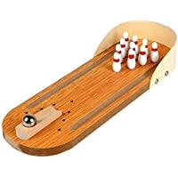 A S Handicrafts Miniature Bowling Ball Game Desktop Office Indoor Games Corporate Training and Workshop Stress Relief…