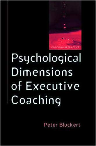 Psychological Dimensions To Executive Coaching PDF Books