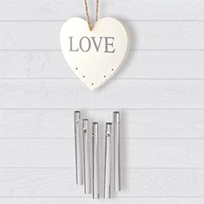 Beautiful Love Heart Hanging Plaque Chimes Indoor Decoration Wind Chimes