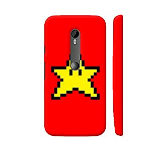 Colorpur Moto G Turbo Cover Star Pixel Art On Red Amazon In Electronics