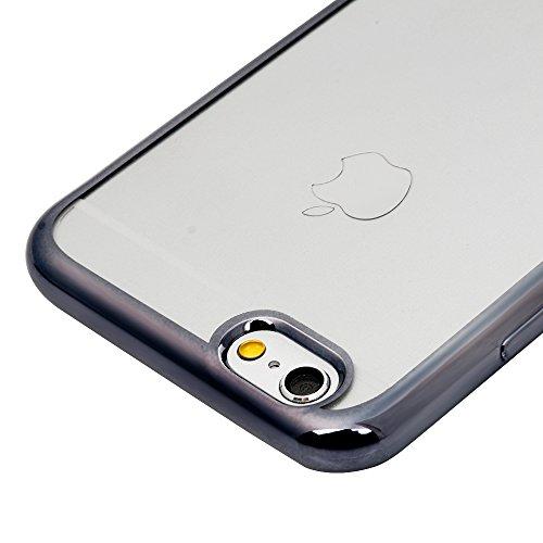 iPhone 6 plus/6s plus Hülle Badalink 3 Stück Überzug TPU Case Cover Ultraslim Handyhülle Schutzhülle Silikon Schutz Tasche Schale Transparent Antikratz Backcover Grau
