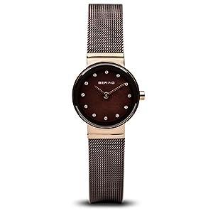 BERING Reloj Analógico para Mujer de Cuarzo con Correa en Acero Inoxidable 10122-265