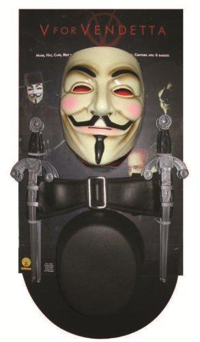 V wie Vendetta Kostüm-Set - für Erwachsene