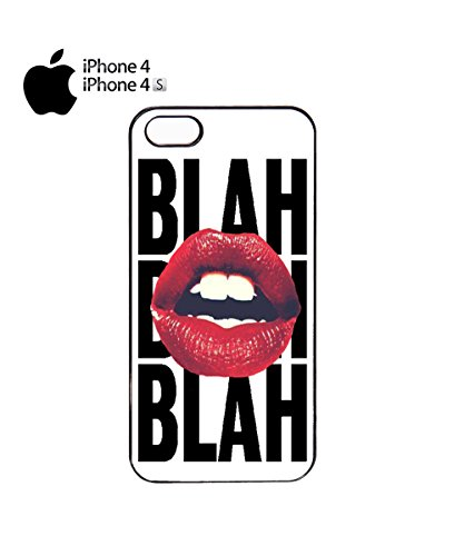 Kiss Lips Blah Funny Cool Design Mobile Phone Case Cover iPhone 6 Plus + White Noir