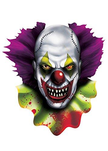 Halloween gruselige Clown Cutout Dekoration