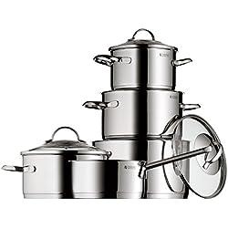 WMF Provence Plus - Batería de cocina de 5 piezas, 1 cacerola de 2,5 litros, 3 ollas de carne de 1,9, 3,3 y 5,7 litros, 1 cazo de 1,5 litros