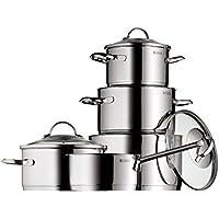 WMF Provence Plus - Batería de cocina de 5 piezas de acero inoxidable, 1 cacerola de 2,5 litros, 3 ollas de carne de 1,9, 3,3 y 5,7 litros, 1 cazo de 1,5 litros