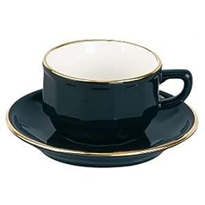 2 Tasses chocolat Bistrot Noir et or - 22 cl
