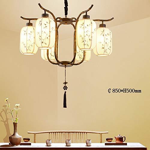 G'z Chinesische Kronleuchter Wohnzimmer Lichter Chinesischen Stil Restaurant Beleuchtung Moderne Minimalistische Schlafzimmer Lampe Studie Lampe Teehaus Lampen,6 Köpfe,Einheitsgröße -