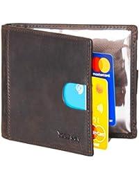 Yourway Sweden Clip de Dinero Cuero Cartera - Slim Billetero Tarjetero Para Hombre De Crédito, Bloqueo de RFID