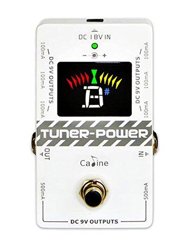 Ammoon - Caline CP-092-in-1, Accordatore & Alimentatore True Bypass DC 9V per Chitarra Elettrica, Pedale Effetto a 8uscite isolate, multifunzione, compatto, portatile