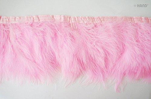 Fascinators GS, cappelli, piume d'oca 15 Fringe Trim, 1 m GS08 Baby Pink