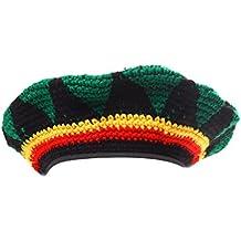 FITYLE Sombrero De Acrílico Multicolor Jamaica Rasta DreadLock Roots Tam Hat Rasta Reggae