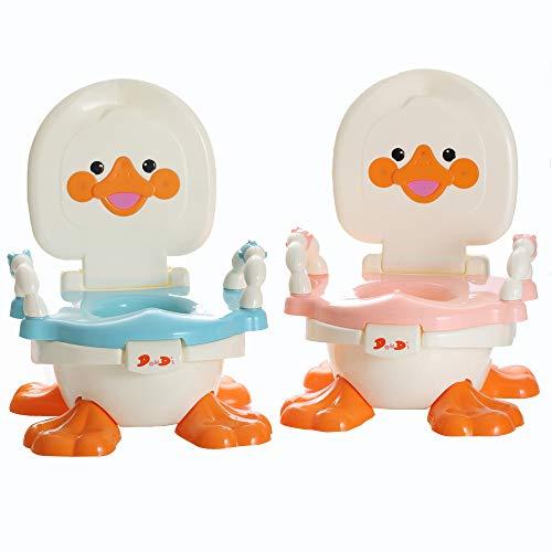 babyhugs-3in 1-Anatra Design Bambini per bambini Passo Sgabello Vasino con Piedini Antiscivolo e paraspruzzi, colore: blu