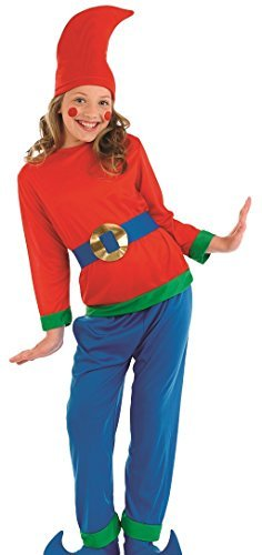 Kinder Jungen Mädchen Frecher GNOME Pixie Elfe Weihnachten TV Buch Film Märchen Kostüm Kleid Outfit - 8-10 Years (Gnome Kind Kostüm)