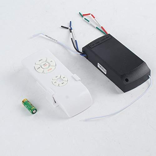 Ventilador de techo universal, con mando a distancia, 110-240 V, con temporizador, control inalámbrico...