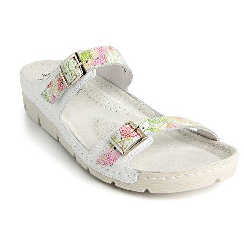Batz Garda Léger et Flexible Sandales Sabots Mules Chaussons Chaussures de Qualité Supérieure en Cuir Femme