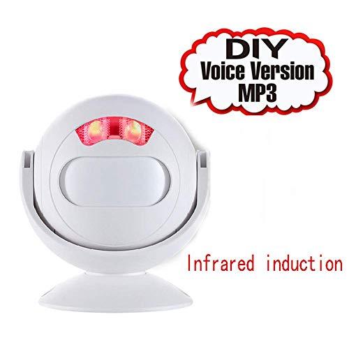 AYHa Türklingel Wireless Security, Alarm System-113Db, Bewegungsmelder, Alarm Monitor, Pir Alarm Infrarotsensor Anti-Diebstahl, Wireless Alarm System, Smart Wireless, Alarm Sensor, Weiß - Link-20-batterie-monitor
