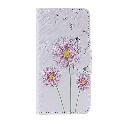 Meet de Folio Leather téléphones portables Housse Case sac pour LG G5,Case Cover en cuir pour LG G5 étui en cuir PU Handy Wallet / Tongues Wallet / Case Wallet / Leather Case / avec support Fonction - Dandelion Girl