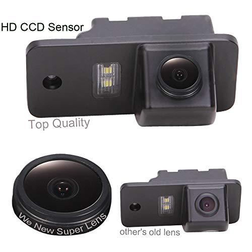 Auto 1000TV Linien Sternenlicht Super Pro HD Objektiv Rückfahrkamera verbesserte Einparkhilfe mit 8IR Nachtsicht 170° Weitwinkel Wasserdicht HD für Audi A1 A3 A4 A5 A6 A7 A8 Q3 Q5 Q7 A4L A6L A8L