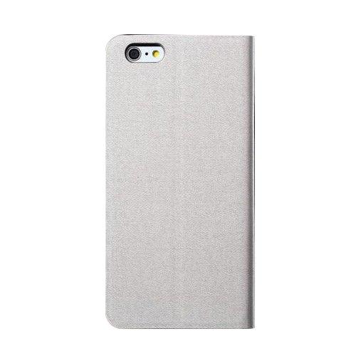 "D9Q Slim PU Leder Flip Wallet Card Slot Halterung Stand Case Fall für iPhone 6 Plus 5,5"" !!Gray"