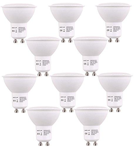 LED FACTORY 5W MR16 GU10 LED Lampe, Ersatz für 50W Halogenlampen, 400lm, Warmweiß, 2800K, 100° Abstrahlwinkel, LED Birne, LED Leuchtmittel, 10er Pack -