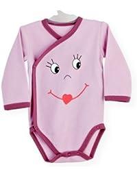PROMO Body bébé croisé Smiley Tailles Bodies 6 mois - Les Kinousses