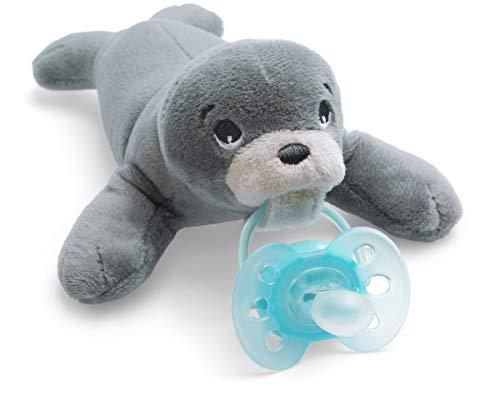 Philips Avent Snuggle Robbe SCF348/14, Kuscheltier mit Schnuller ultra soft, perfektes Geschenk für Neugeborene und Babys, Schnullertier