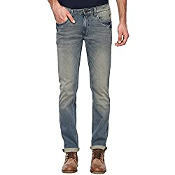 LP Jeans By Louis Philippe Mens Matt Fit Jeans (LRDN517R010754_Blue_36)