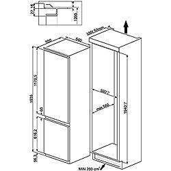 Smeg C3202F2P Incasso 222L 80L A++ frigorifero con congelatore