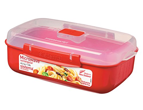 sistema-microwave-rectangular-container-125-l-red-clear