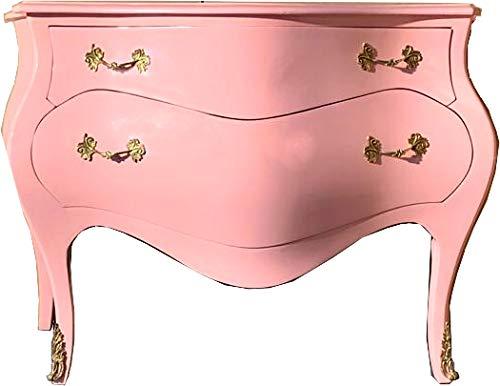 Casa-Padrino Cómoda barroca 120 cm Rosa/Oro - aparadores