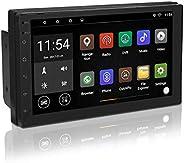 Autoradio Doppel Din Radio GPS Navigation, 7 Zoll 1+16G Touchscreen Bildschirm Ausfahrbar, Bluetooth Freisprecheinrichtung,