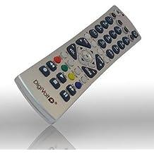 Mando a distancia universal de control remoto 4 en 1 para Tv Dvd Tdt Sat gris