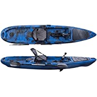 Angel Kayak grapper Catfish 13 Blue Camo con pedalantrieb/propellerantrieb