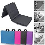 Lions Gymnastic Mat - 50MM Thick Tri Folding Yoga Exercise Gym Play Fitness Floor Matt - 180x60cm
