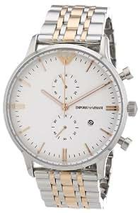 Emporio Armani - AR0399 - Montre Homme - Quartz Chronographe - Bracelet Acier Inoxydable Plaqué Multicolore