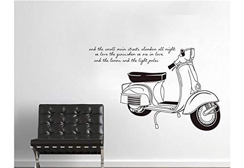 YUJIANF art bar wohnkultur für kinderzimmer Schwarz und weiß motorrad Quote wandaufkleber aufkleber wand Vinyl aufkleber - Weiss Jalousie Vinyl