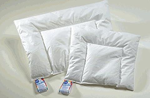 ARO Artländer 9370000 Aroli Baby Flat Pillow White Polish Down Class 1 90% Down Washable at 60 °C 40 x 60 cm