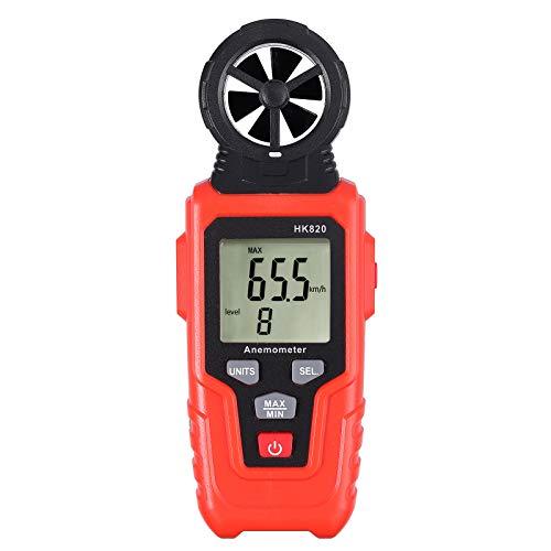 Anemómetro Digital Portatil Anemometro Termometro Medidor de Velocidad y Temperatura del Viento Pantalla...