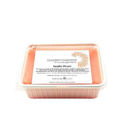 Paraffinwachs für das Paraffinbad Pfirsich im Set 6x 1000ml 750g - 4,5kg zum nachfüllen