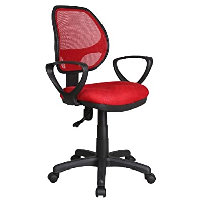 Red Adjustable Gas Lift Swivel Computer Desk Office Furniture Chair Seat New - inexpensive UK light shop.