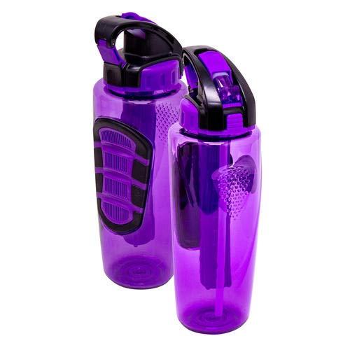 Cool Gear 32Oz Sahara Gefrierschrank Stick Wasser Flasche, lila oder pink (Gel-wasser-flasche Gefrierschrank)