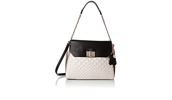 Guess Rebel Roma Shoulder Bag Borsa a Spalla, Donna, Grigio